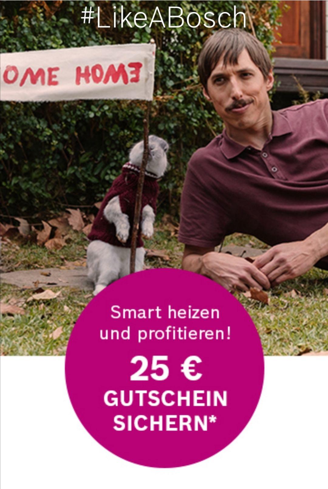 Bosch Smart Home 25 Euro Gutschein bei 150 Euro Einkauf - #LikeABosch