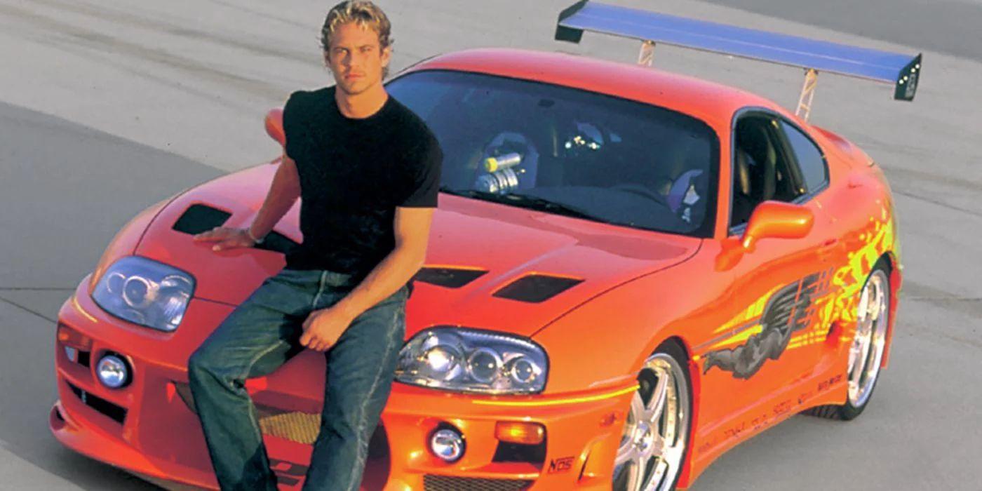 Jada Toys Fast & Furious Brian's Toyota Supra 1995, Auto, Spielzeugauto, Maßstab 1:24, Amazon Prime