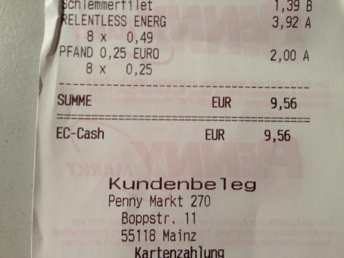 [Lokal Penny Mainz] Relentless Energy Drink 0,5l für 0,49€