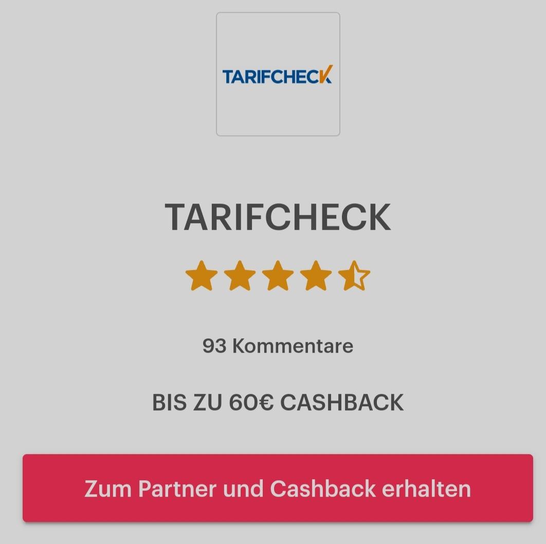 [Shoop] 60€ Prämie für einen Wechsel der Autoversicherung bei Tarifcheck