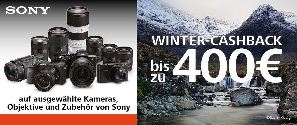 Sony Wintercashback 2020 auf α-Kameras und Objektive