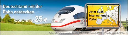 Ltur Bahn in die Schweiz (Bern, Genf, Lausanne, Luzern, Zürich) für 35€