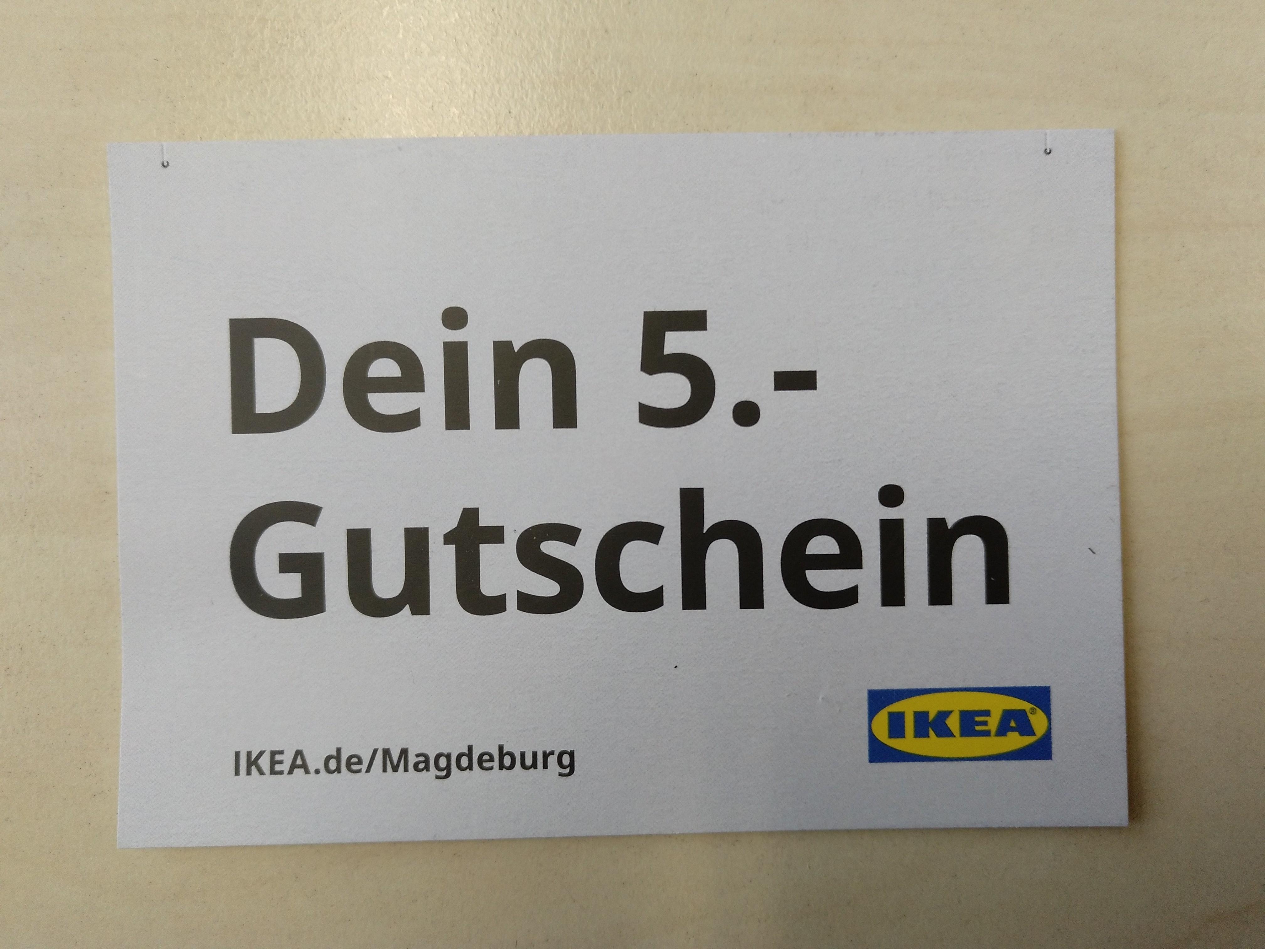 """[IKEA Magdeburg] 5€ Gutschein ab 50€, im DATEs """"Studieren in Magdeburg"""" Heft"""