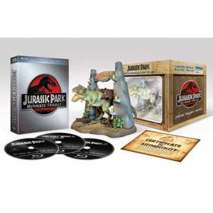[amazon.de] Jurassic Park Ultimate Trilogy (Limited Collector's Edition inkl. T-Rex Figur) [Blu-ray] [Limited Edition]  : 24,97 Euro    Alternativ: Holzbox-Version: 19,97 Euro