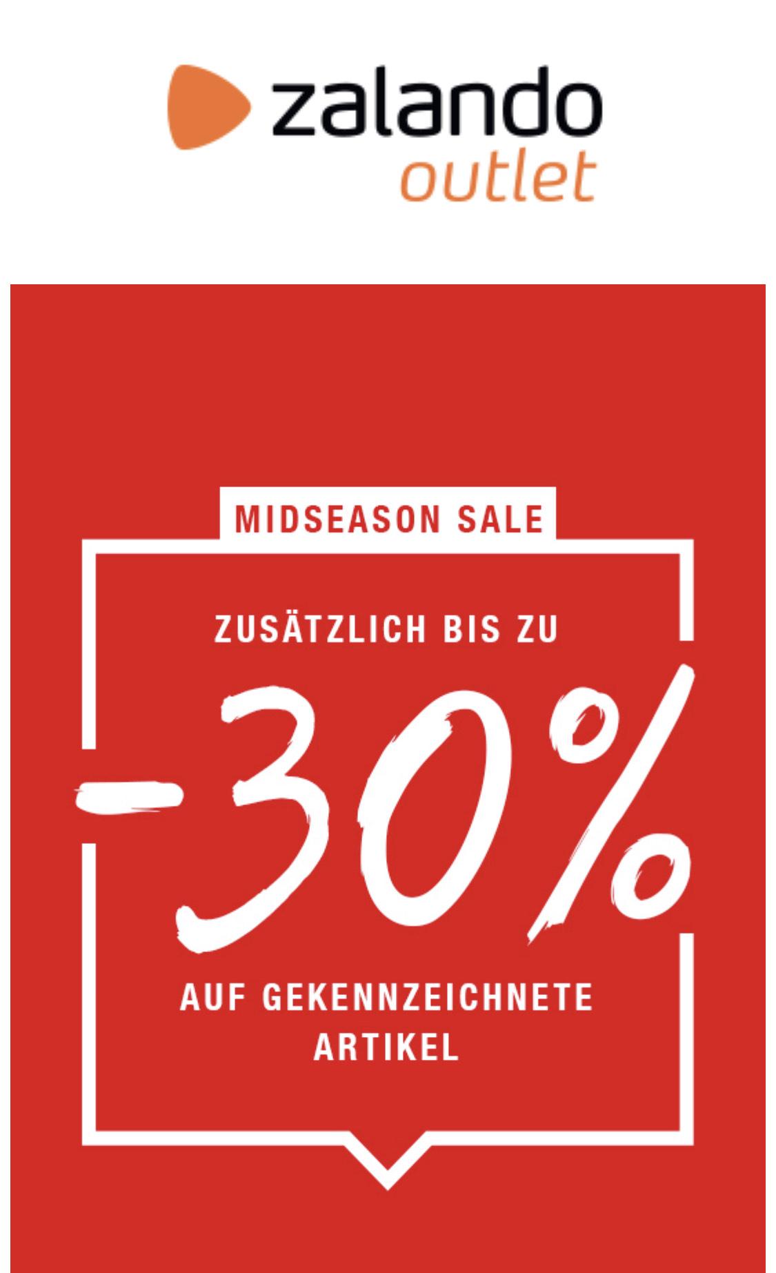 Zalando Outlet zusätzlich bis zu 30% Rabatt- Berlin Frankfurt Köln Hamburg Leipzig und Stuttgart