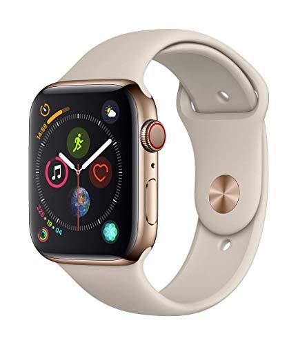 (Amazon.it + ColisExpat) Apple Watch Series 4 (GPS+LTE) 44mm Edelstahlgehäuse Gold mit Sportarmband Stein