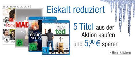 [Sammeldeal] 'Filmangebote eiskalt reduziert' inkl. 5,-€ Rabatt beim Kauf von 5 Titeln @ Amazon.de