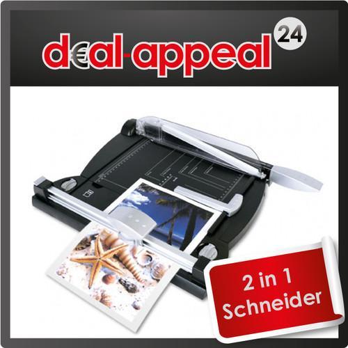 Papierschneidemaschine 2 in 1 (Hebel- und Rollenschneider) für nur 12,95 EUR inkl. Versand!