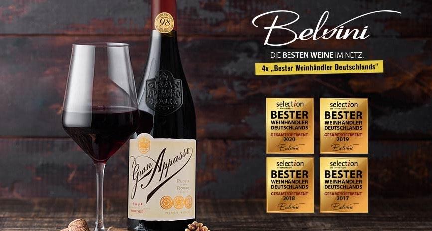 Bis zu eff. 27,55% auf Wein & Spirituosen etc. bei Belvini [über Shoop]