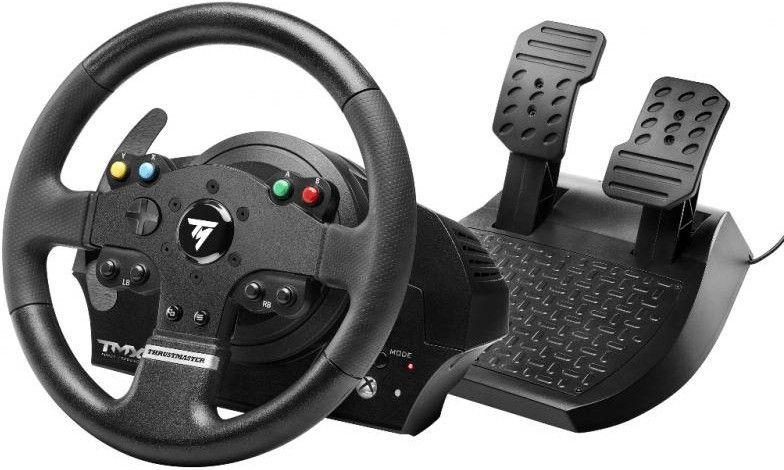 THRUSTMASTER TMX Force Feedback (inkl. 2-Pedalset, Xbox One / PC / Xbox Series X|S), Lenkrad, Schwarz [Saturn]