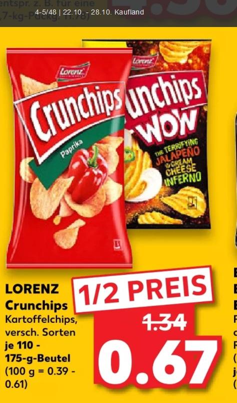 [Kaufland] Crunchips zum halben Preis