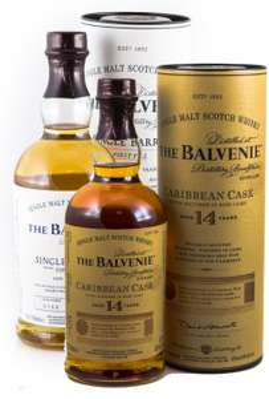 The Balvenie 12 Jahre Single Barrel + 14 Jahre Carribean Cask Whisky