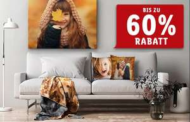 [Lidl Fotos] Leinwand, Premiumdecken, Kissen Sale, zB: Leinwand 80x60 cm für 17,99€ + 4,99€ Versand