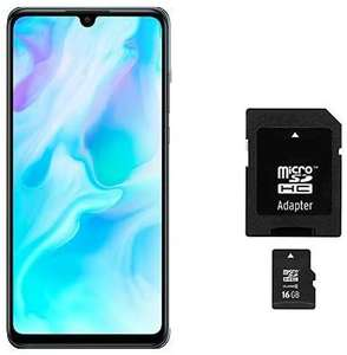 HUAWEI P30 lite Dual-SIM Smartphone Bundle (6,15 Zoll, 128 GB ROM, 4 GB RAM, Android 9.0) [Saturn & MM & Amazon]