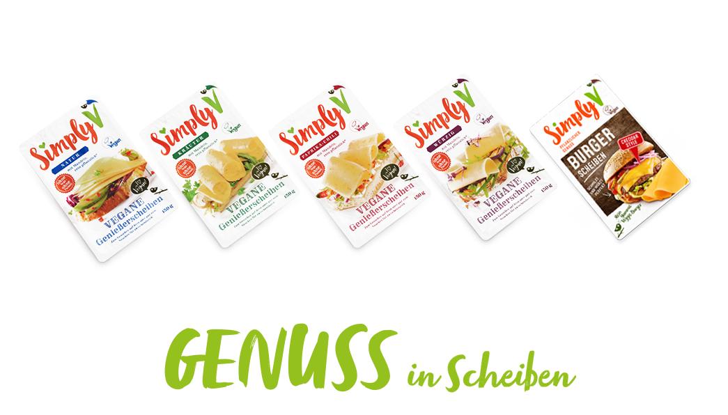 [Kaufland] Simply V Vegane Genießerscheiben auf Mandelbasis je 150g-Packung nur 2,25€ statt 2,93€