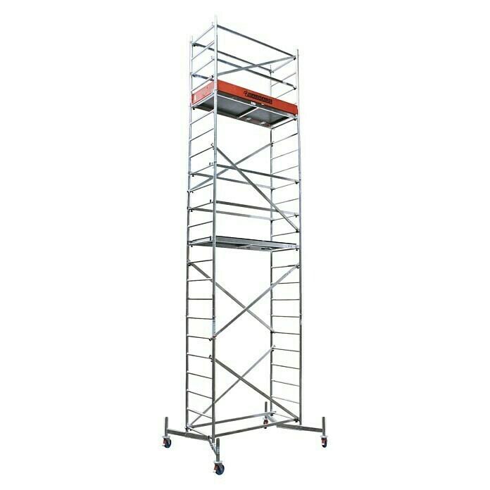 [BAUHAUS vor Ort] Krause ClimTec Gerüst-Set bis 7 m (Grundgerüst + 1. und 2. Erweiterung) inkl. Fahrrollensatz (bei Versand + 39,90 Euro)