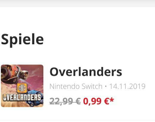 Switch Overlanders Combat Racing (Downloadsoftware)