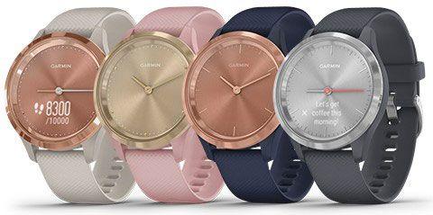 [WW Shop] Garmin Vivomove 3S Sport Hybrid-Smartwatch (Silber-blau o. Rosegold-blau)