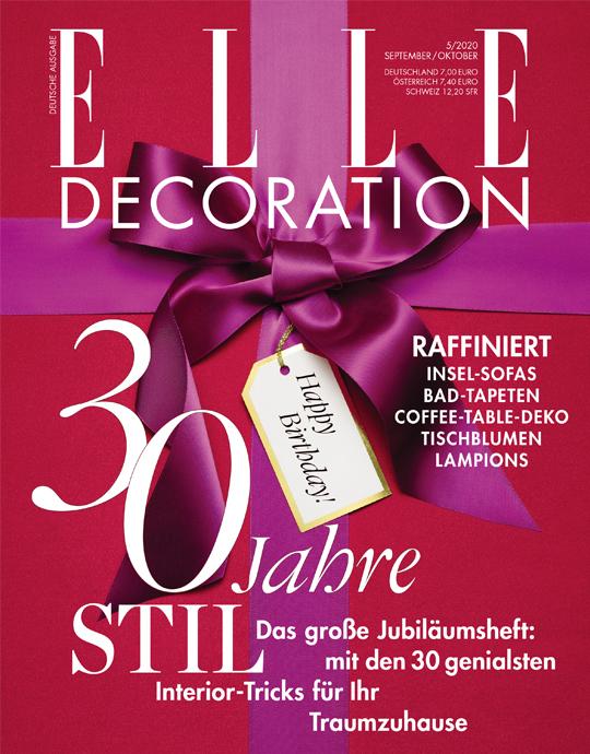 ELLE Decoration Abo (5 Ausgaben) für 28 € mit 25 € Scheck/ ShoppinBon inkl. Amazon / oder dm-Gutschein (Kein Werber nötig)