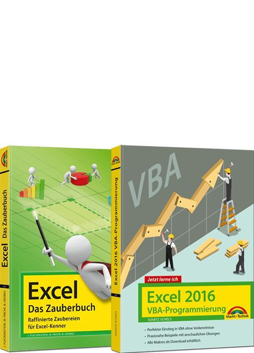 Zwei Excel Bücher als PDF für 5,- € (Excel – Das Zauberbuch & Excel 2016 VBA Programmierung)