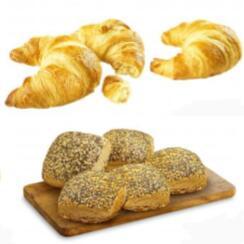 (07:00-08:00 Uhr) 3× Butter-Croissant (16 ¢/Stk.) oder 5× Weltmeister-Brötchen (9½ ¢/Stk.) bei [Netto]