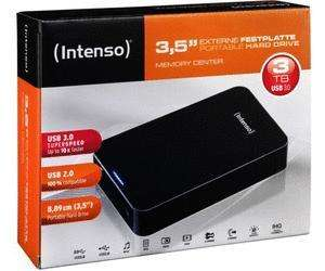 "Intenso Memory Center 3 TB USB 3.0 3,5"" für 99€ bei Staples (offline)"