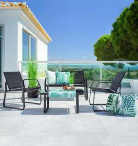 Loungegarnitur Pentos inkl. Tisch mit Glasplatte für 69,30€ (Moemax Abholung)