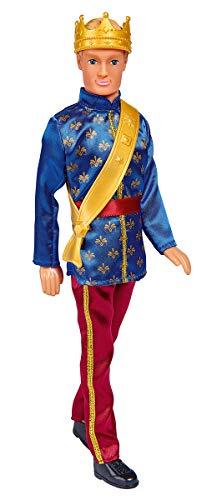 Simba- Kevin als Prinz / im eleganten Anzug mit goldener Krone und Schärpe/ Ankleidepuppe / 30cm (Amazon Prime)