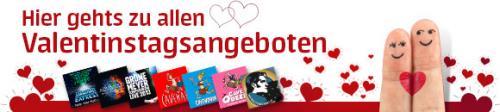 Valentinsspecial, diverse Karten günstiger über Eintrittskarten.de  z.Bsp. bis 70€ auf Starlight Express