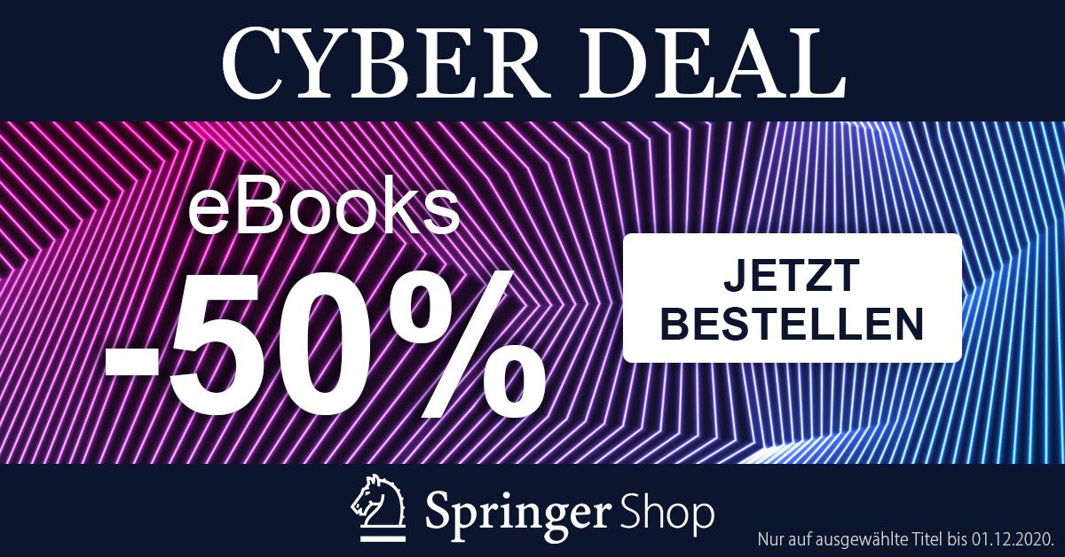[Springer Shop] 50% Rabatt auf alle englischsprachigen eBooks verschiedenster Fachbereiche