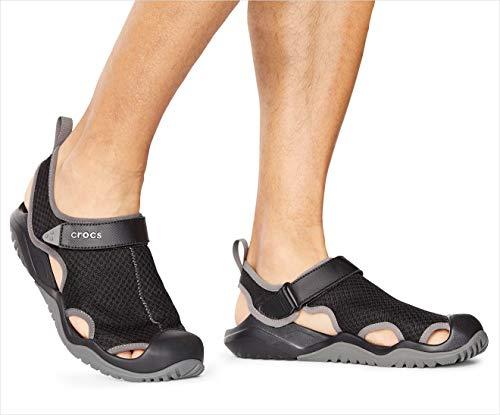 [Amazon Prime] Crocs Herren Swiftwater Mesh Deck Sandal M Clogs (Farbe schwarz)
