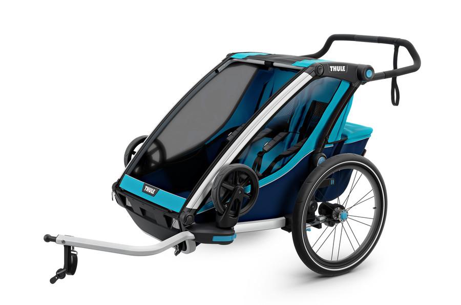 THULE Chariot Cross 2 blue, Kinderfahrradanhänger, Fahrradanhänger