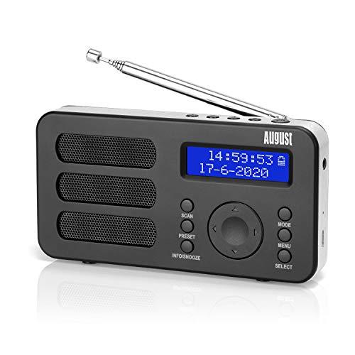 August MB225 - Tragbares Radio mit DAB+ / DAB/FM RDS-Funktion