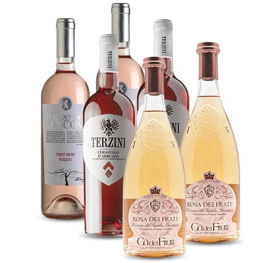6er Entdecker-Paket: Italienische Rosé-Weine aus 2019 mit 10% extra Rabatt durch Newsletter