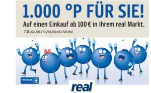 1000 Payback Punkte für einen Einkauf ab 100€ bei real - am 29.10.
