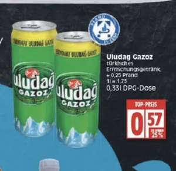 Uladag Gazoz 0,33L für 0,57€ [EDEKA Minden-Hannover]