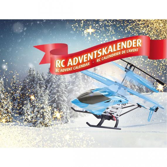 Revell Control 01021 Adventskalender RC Helikopter (mit Motion-Control, 2.4 GHz, LED-Beleuchtung, Gyro, inkl. Batterien) für 26,94€