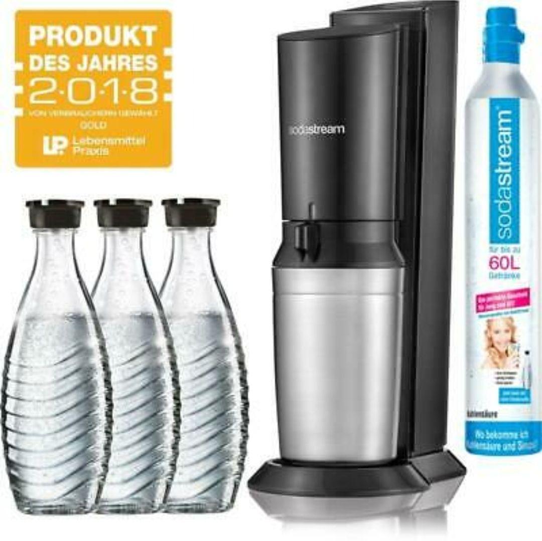SodaStream Crystal 2.0 Wassersprudler inkl. 3x Glaskaraffen und 1x Co² Zylinder