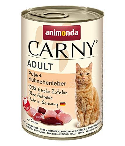 Animonda Carny 6x400g Dose Pute + Hühnchenleber