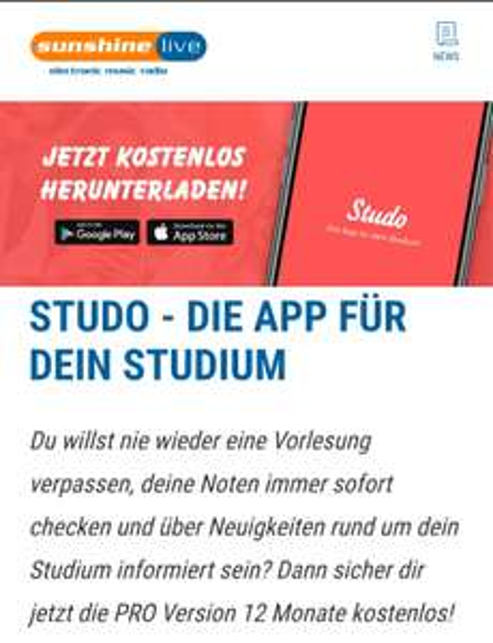 Studo App PRO Version 12 Monate kostenlos Android & Apple