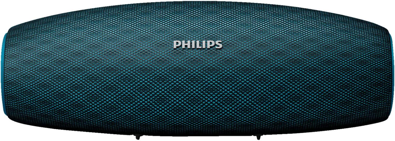 Philips BT7900 Bluetooth-Lautsprecher blau (14W, ~10h Akkulaufzeit, AUX-In, Mikrofon, staubfest und spritzwassergeschützt, 530g)