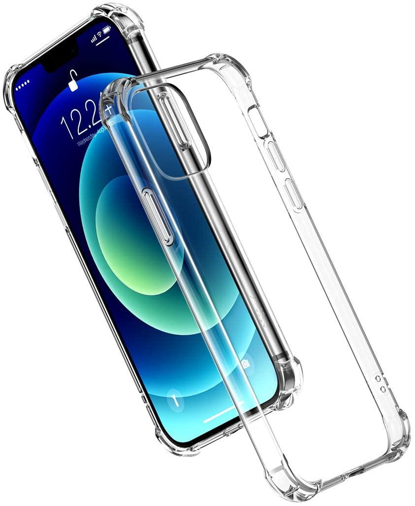 [Prime] Ugreen Schutzhülle für iPhone 12 & 12 Pro (TPU, leicht überstehend an Bildschirm und Kameralinse, verstärkte Ecken)
