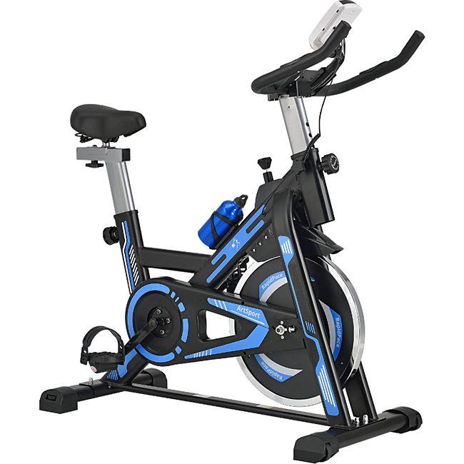 ArtSport Speedbike RapidPace mit Smartphone Halterung, Computer & Pulsmesser| 10 kg Schwungmasse | bis 176cm Körpergröße geeignet