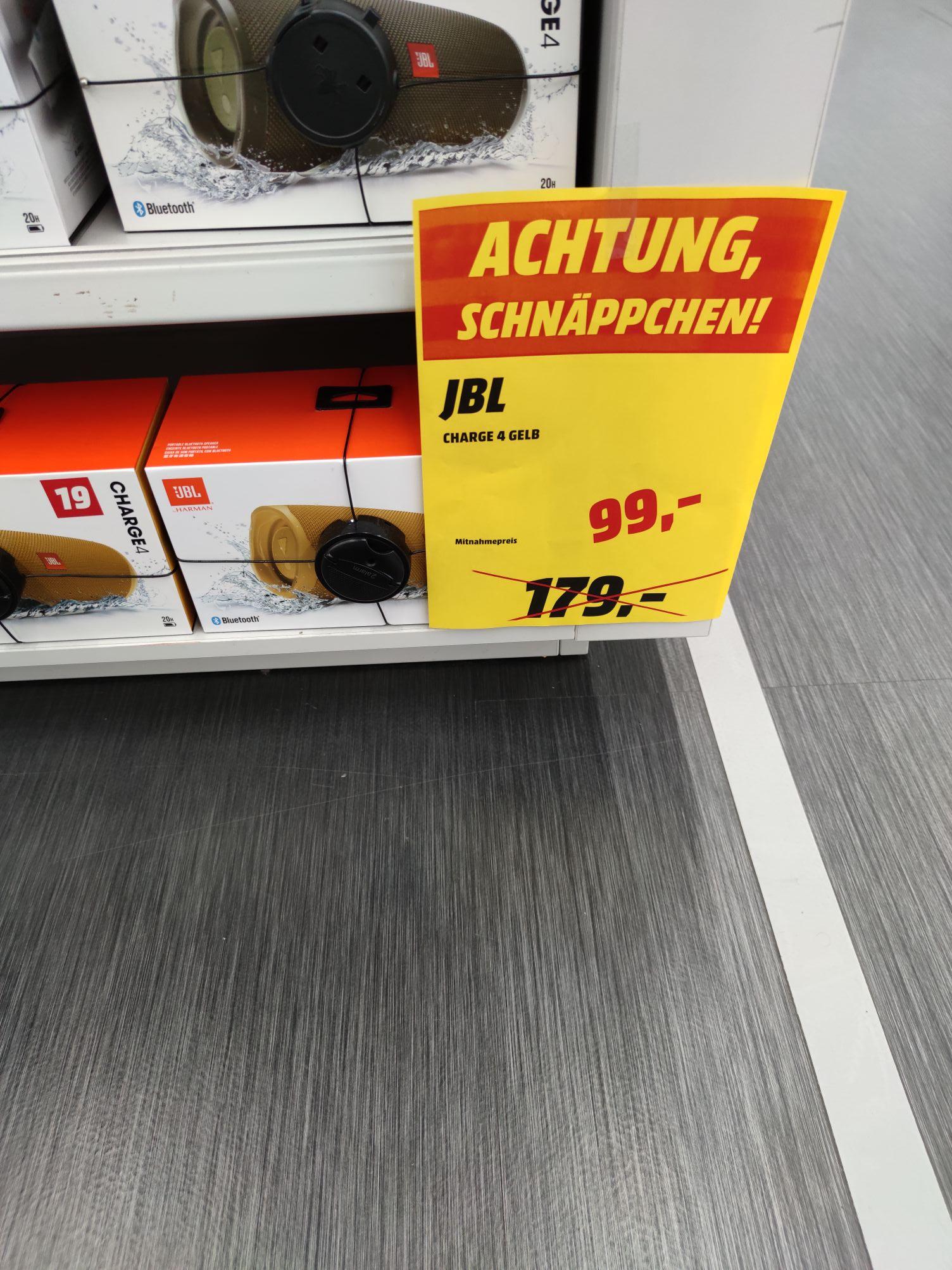 JBL Charge 4 Gelb (Lokal Mediamarkt Schweinfurt Stadtgalerie)