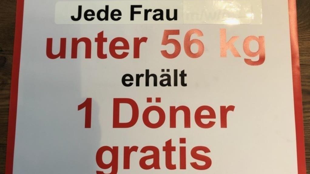[lokal / Essenbach bei Landshut] Gratis Döner für alle Frauen unter 56 kg