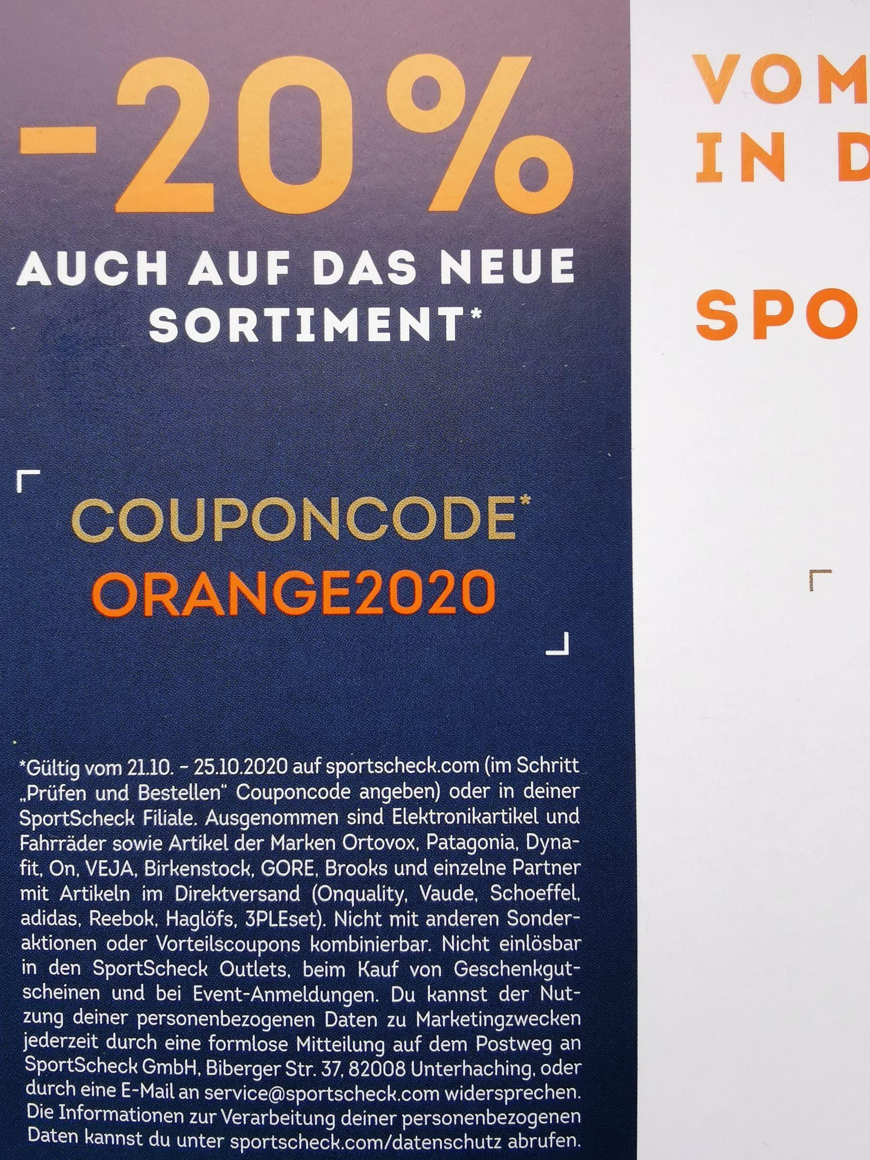 SportScheck 20%
