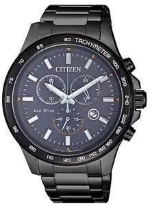 Citizen AT2425-80H Chronograph, Eco-drive, Saphir, Schwarz