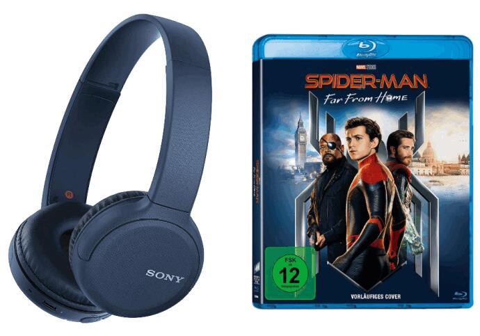 Sony Kopfhörer kaufen und Blu-ray geschenkt bekommen - z.B. Sony WH-CH510 Kopfhörer + Spider-Man: Far From Home (Blu-ray) für 33,63 (Amazon)