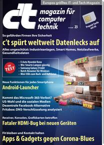 [Heise] 6 Ausgaben c't (Print oder Digital) + 15 € Amazon-Gutschein + Sonderheft ct Innovate für 20,70 €