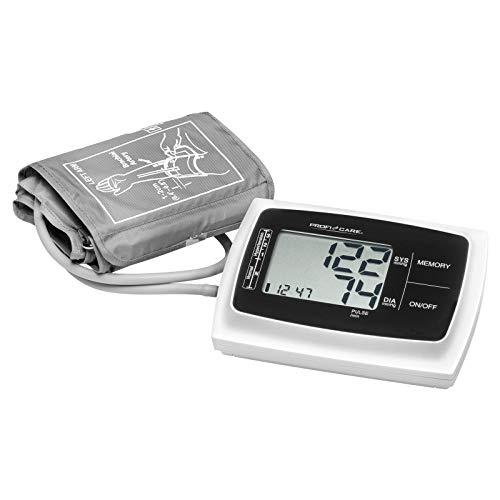 [Amazon Prime] ProfiCare PC-BMG 3019 Oberarm Blutdruckmessgerät, vollautomatische Blutdruck-und Pulsmessung, großes LCD-Display